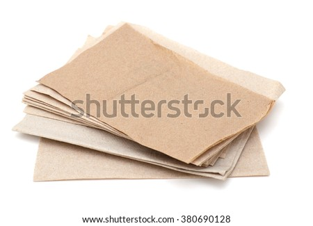 A environment recycled napkin papers - stock photo