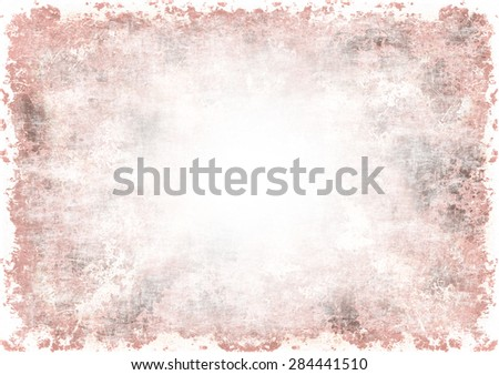 A faded grunge background in red on white with copy space - stock photo