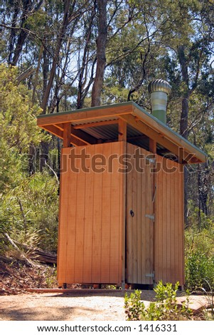 A fair dinkum outback dunny in an Australian forest reserve. A dunny is a toilet if you don't already know.