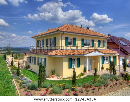 A family house - stock photo