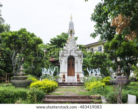 "a famous ancient temple in thailand ""White house of holy"""