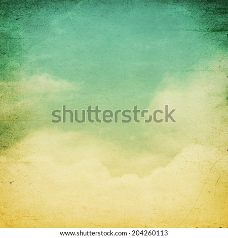 A fantasy cloudscape, vintage sky background.