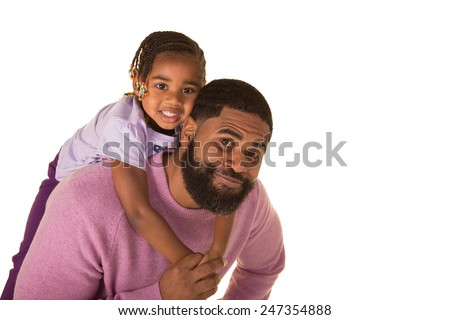A father with his preschool daughter