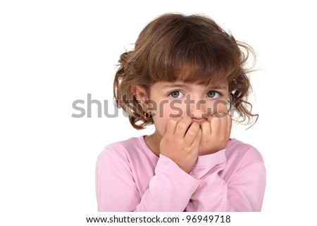 A fearful child - stock photo