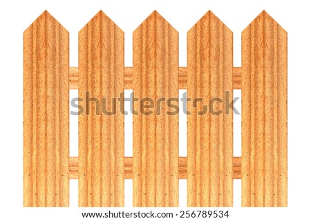 A fence is a freestanding structure designed to restrict or prevent movement across a boundary. - stock photo