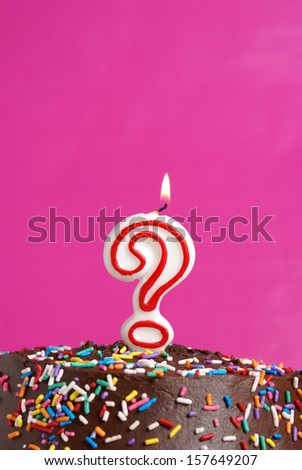 A festive candle to celebrate someones questionable age.