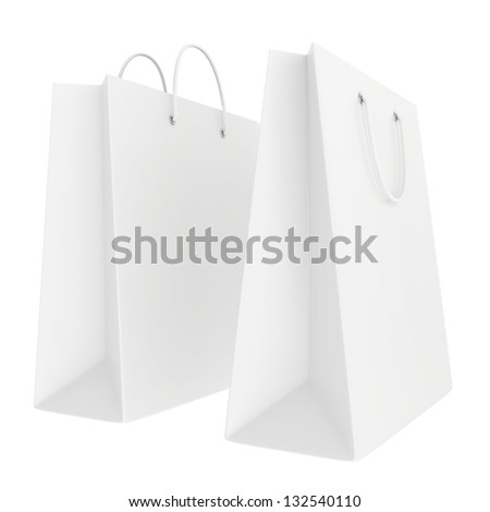 a few bags in white