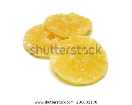 a few dried pineapple - stock photo