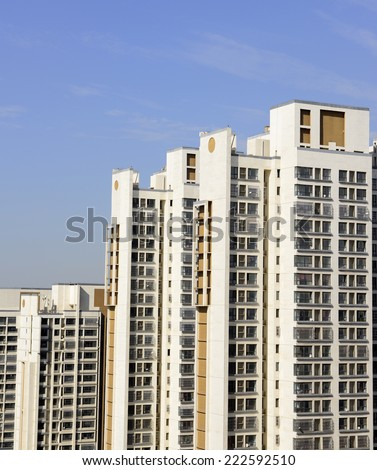 A few new high-rise residential buildings