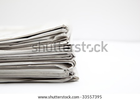 A few stacked newspapers