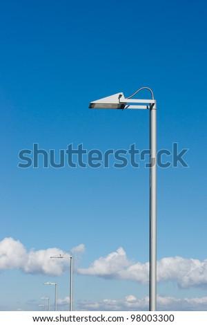 a few street lantern with a modern design - stock photo