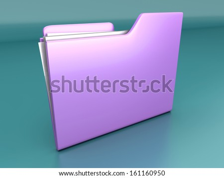 A File / Folder. 3D illustration.
