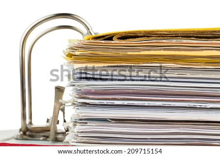 a file folder with documents and documents. retention of contracts. - stock photo