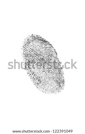 A fingerprint on a white sheet