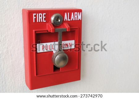 A fire alarm to alert in case of fire.