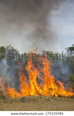 A fire in Port Elizabeth, South Africa
