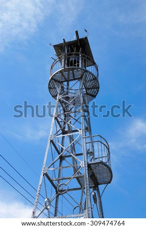 a fire tower - stock photo