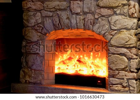 A fireplace stove
