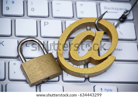 Fish Hook Email Sign Online Fraud Stock Photo Royalty Free