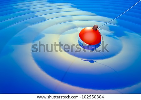 a fishing background - stock photo