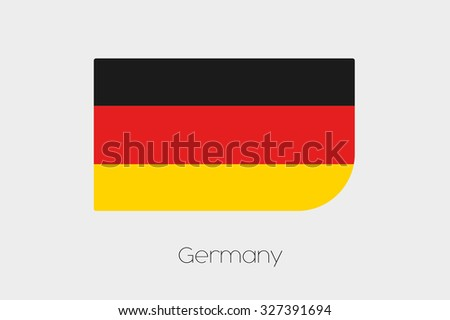 A Flag Illustration of Germany