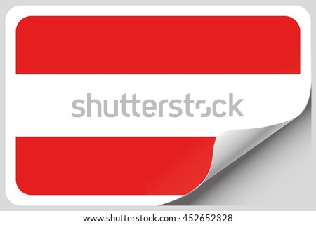 A Flag Illustration of the country of Austria
