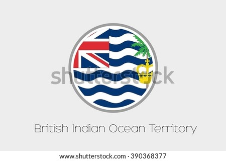 A Flag Illustration of the country of British Indian Ocean Territory