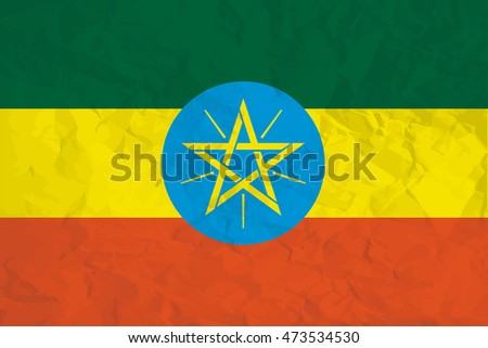 A Flag Illustration of the country of Ethiopia