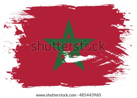 A Flag Illustration of the country of Morocco