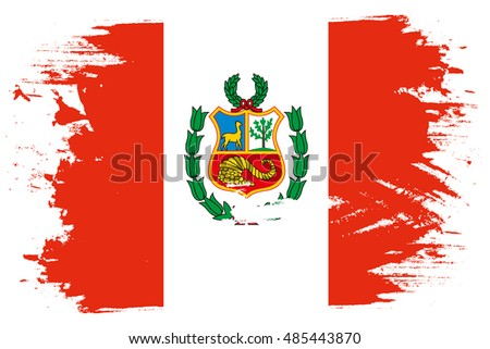 A Flag Illustration of the country of Peru