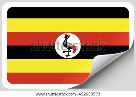 A Flag Illustration of the country of Uganda