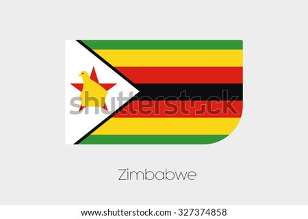 A Flag Illustration of Zimbabwe