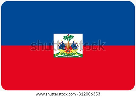 A Flag Illustration with rounded corners of the country of Haiti
