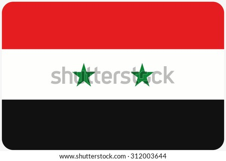 A Flag Illustration with rounded corners of the country of Syria - stock photo