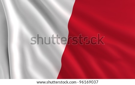A flag of Malta in the wind