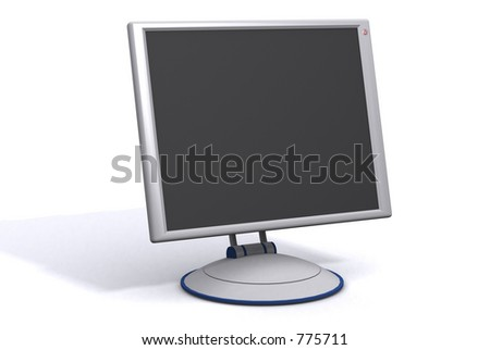 a flat panel lcd computer monitor - stock photo