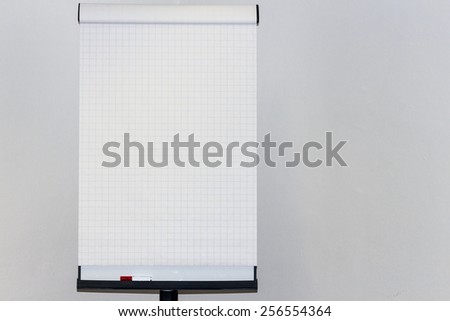 A Flipchart in a Office - stock photo