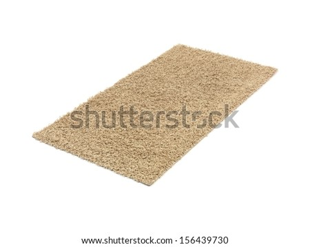 A floor rug isolated on a plain background - stock photo