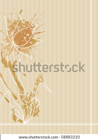A flower with pattern background