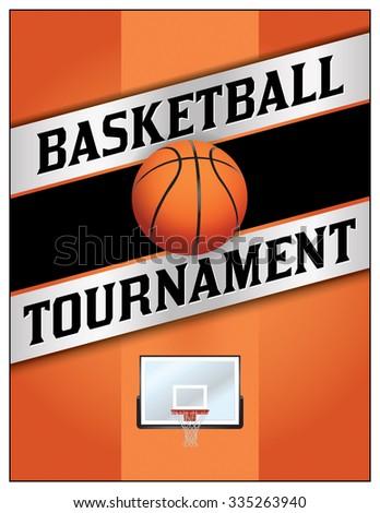 A Flyer Or Poster Illustration Design For A Basketball Tournament.