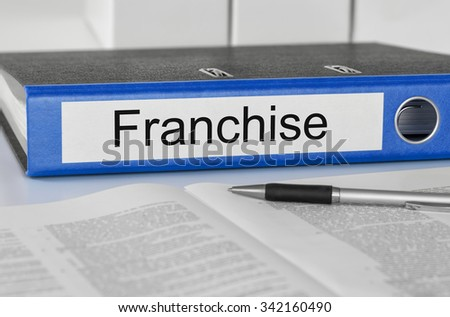 A folder with the label Franchise