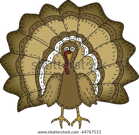 A folk art styled turkey
