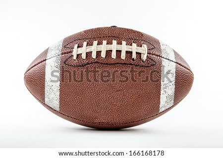 A football against a white background - stock photo