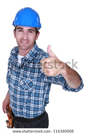 A foreman giving the thumb up. - stock photo