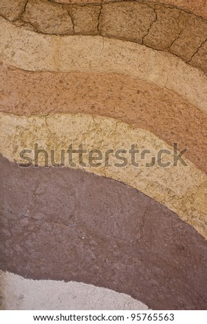 a form of soil layers,its colour and textures - stock photo