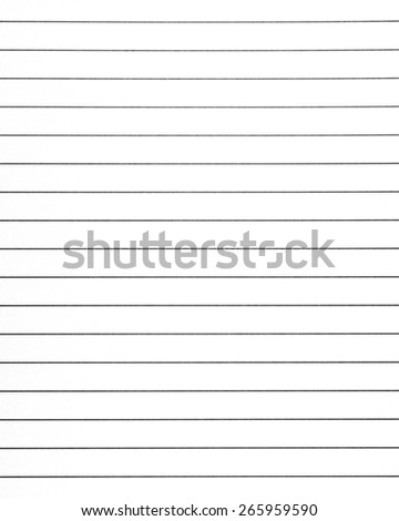 Portrait A4 Format Lines Notebook Paper Stock Illustration ...
