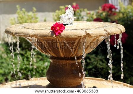 A fountain - stock photo