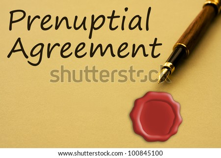 Prenuptial Agreement Photos RoyaltyFree Images Vectors – Words of Agreement