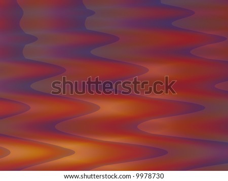 A fractal resembling the reflection of a brilliant sunset. - stock photo