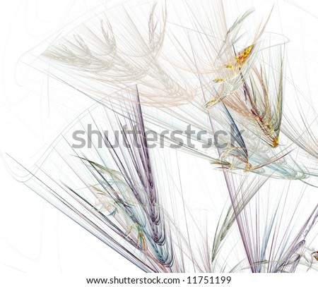 A fractal with a Texture or Fiber theme. Wheat